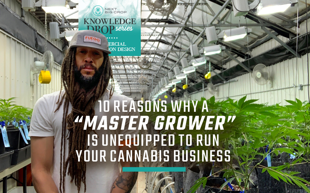 "10 Reasons Why a ""Master Grower"" is Unequipped to Run Your Cannabis Business"