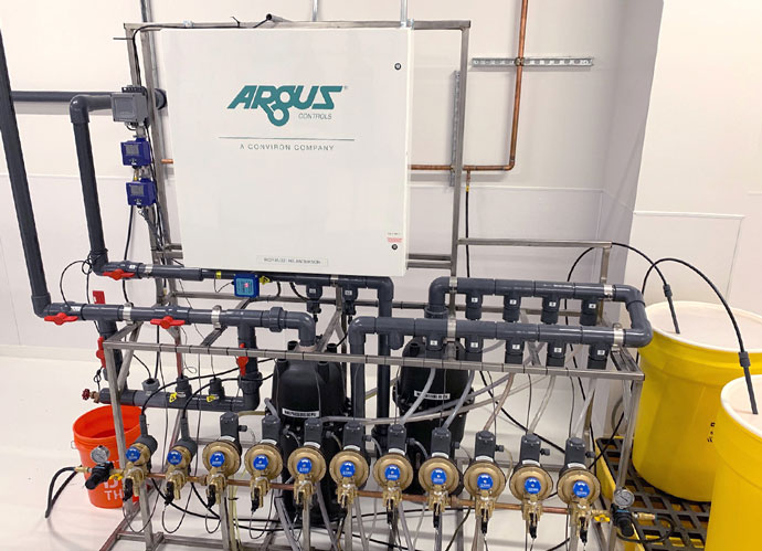 Argus Control Panel in a Commercial Cultivation Facility