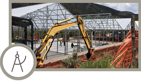 Construction on a Commercial Cultivation Facility